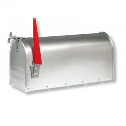 U.S. Mailbox met bekende draaibare vlag
